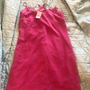 NWT J. CREW DRESS - Spaghetti strap pink